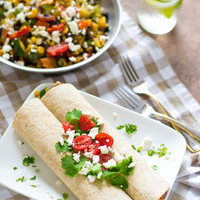 Summer Veggie Burritos