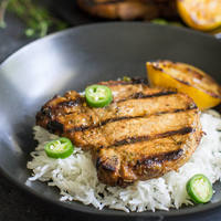 Grilled Pork Chops with Honey-Jalapeno Marinade