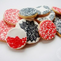 Sugar Cookies Decorated with Henna Designs