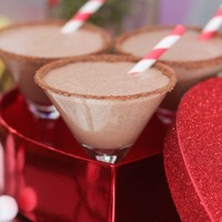Valentine's Day Chocolate Hazelnut Milkshake Martinis