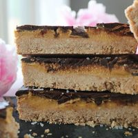 "Chocolate ""Peanut Butter"" Cookie Bars"