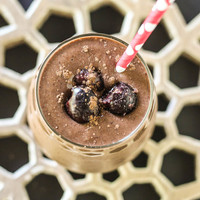 Chocolate Chia Cherry Protein Shake