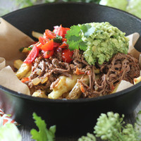 Crockpot Carne Asada Loaded Fries