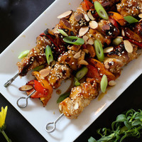 Orange Glazed Chicken Kabobs
