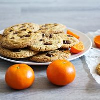 Orange & Dark Chocolate Chip Cookies