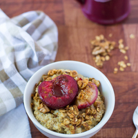 Plum Crunch Steel Cut Oats