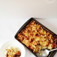 Potato and Celery Root Gratin from The French Market Cookbook