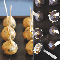 Pumpkin Cookie Dough Pops