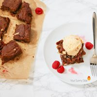 Raspberry & White Chocolate Chip Blondies