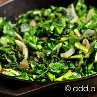 Spicy Skillet Turnip Greens Recipe