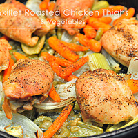 Skillet Roasted Chicken and Vegetables Recipe