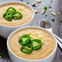 Slow Cooker Jalapeno Cheddar Cheese Soup