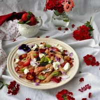 Strawberry Basil Ricotta Pasta
