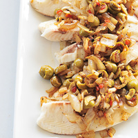Tilapia with Quick Olive Topping Recipe