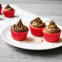 Vanilla Fudge Cupcakes with Chocolate Buttercream Frosting