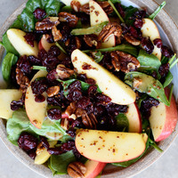 Apple Cranberry Spinach Salad Recipe