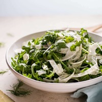 Baby Arugula, Fennel, and Manchego Cheese Salad