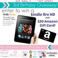 Funfetti Blossoms plus Kindle Fire HD Giveaway!