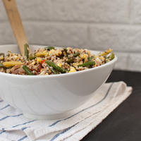 Blackened Green Bean and Quinoa Salad