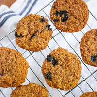 Blueberry Honey Bran Muffins