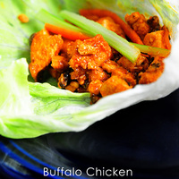 Buffalo Chicken Lettuce Wraps Recipe {Giveaway}
