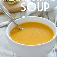 Coconut, Ginger and Butternut Squash Soup