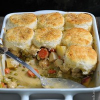 Chicken Pot Pie with Biscuits Recipe
