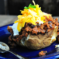Chili Baked Potatoes Recipe