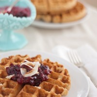 Whole Wheat Coconut Waffles