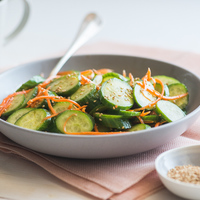 Refreshing and Light Sesame Cucumber Carrot Salad
