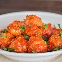 Italian Meatballs with Marinara Sauce