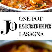 One Pot Hamburger Helper Lasagna