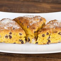 Pumpkin Chocolate Chip and Pecan Scones
