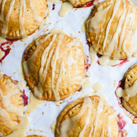 Raspberry Hand Pies with Cinnamon-Orange Glaze