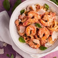 Shrimp Pasta in a Rosé Sauce