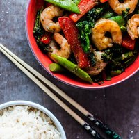Chinese Style Skinny Shrimp and Vegetables
