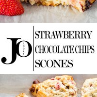 Strawberry Chocolate Chip Scones