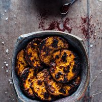 Honey and Sumac Charred Sweet Potato Slices