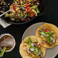 Summer Squash Tacos with Avocado Chimichurri