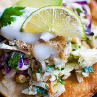 Fish Tostadas with Yogurt Slaw