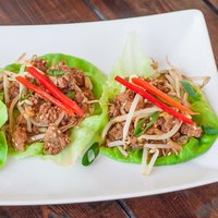 Easy Asian Style Turkey and Beef Lettuce Wraps