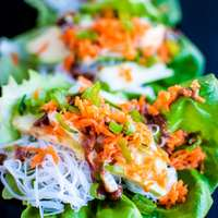 Veggie Lettuce Wraps with Peanut Sauce