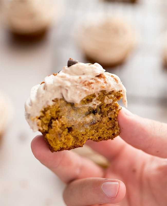 Pumpkin Cupcakes with Nutmeg Buttercream Frosting