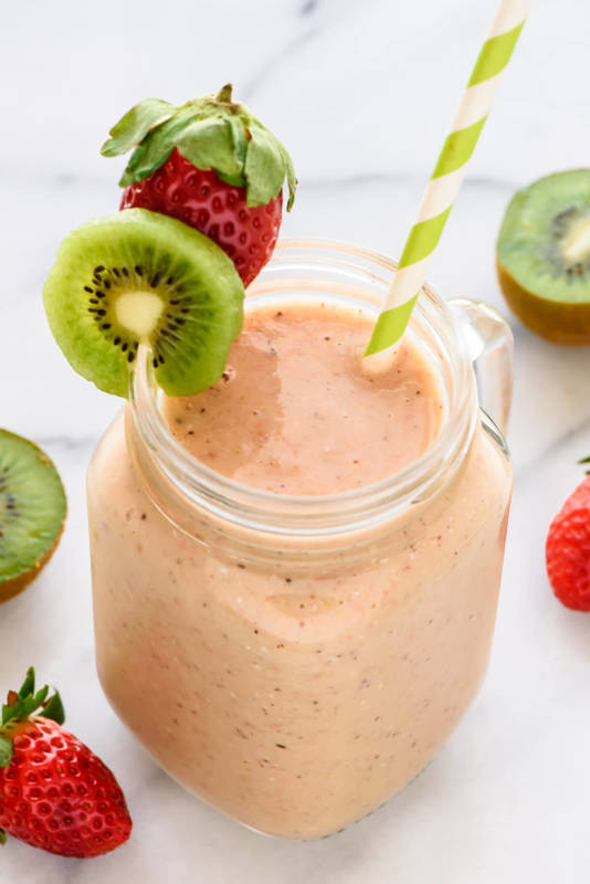 Cold Remedy Strawberry Kiwi Smoothie