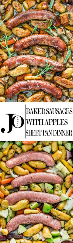 Baked Sausages with Apples Sheet Pan Dinner