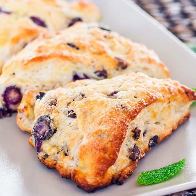 Blueberry and Chocolate Chip Scones