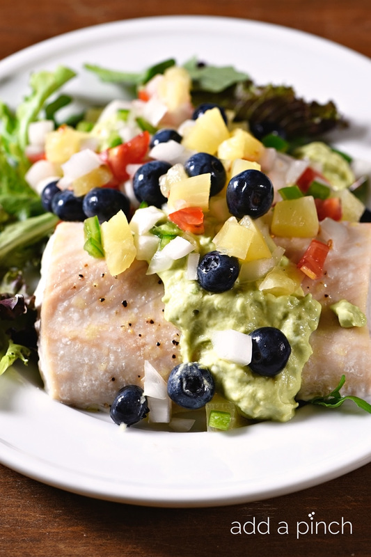 Baked Mahi Mahi with Pineapple Blueberry Salsa Recipe