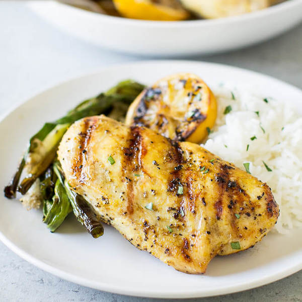 2-Ingredient Grilled Lemon Pepper Chicken