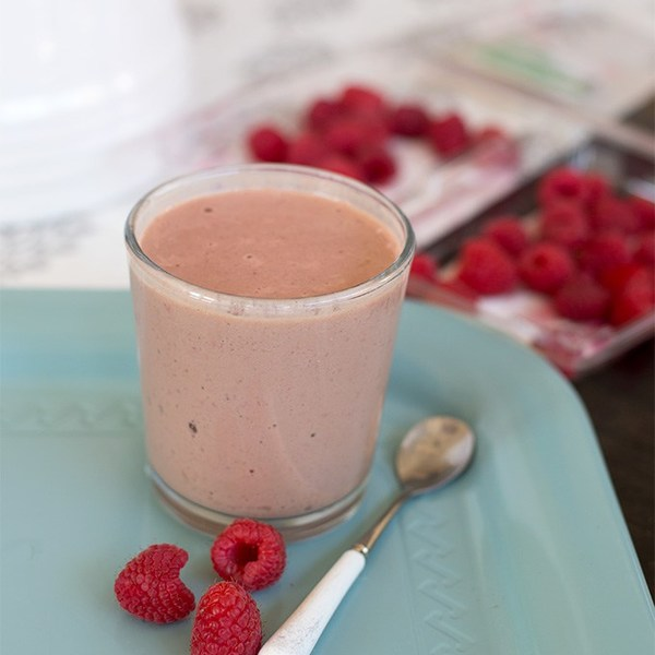 Chocolate Raspberry Protein Smoothie