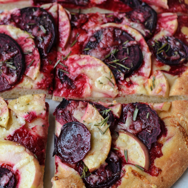 Beet Cheddar Apple Pizza